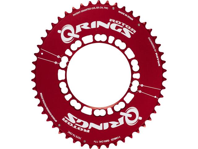 Rotor Q-Ring Road Aero Kettenblatt 110mm 5-Arm außen rot